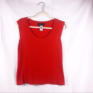 Jones New York, knit red top, size small, great co